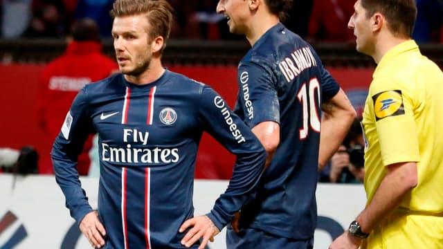 David Beckham et Zlatan Ibrahimovic