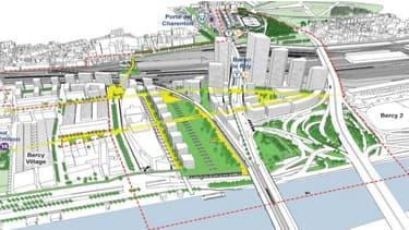 Le projet d'aménagement de la ZAC Bercy-Charenton (XIIe) s'étale sur 80 hectares