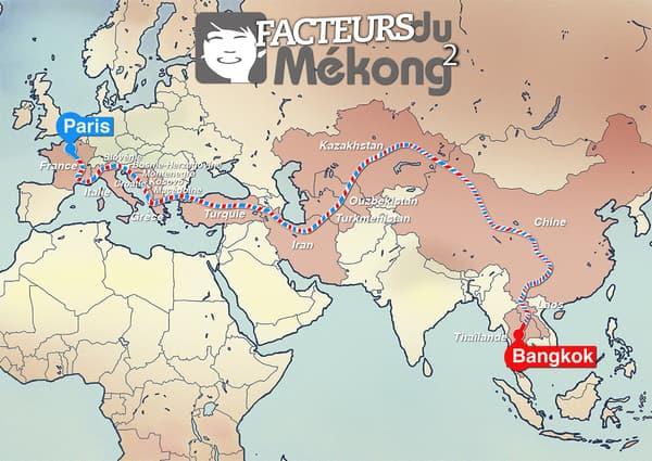Un road-trip de 6 mois pour une action caritative, de Paris en passant par l'Italie, la Turquie et l'Iran, jusqu'à Bangkok.