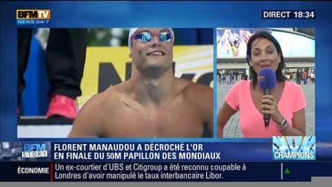 Mondiaux de natation: Florent Manaudou a remporté l'or, ce lundi, lors de la finale du 50m papillon