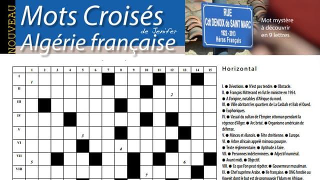 Les mots croisés sur le thème de l'Algérie française, dans le journal municipal biterrois.
