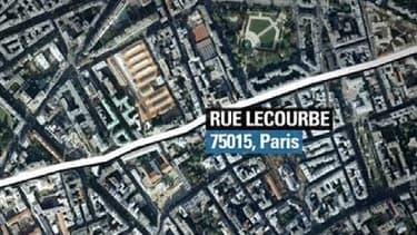 L'incendie qui a fait une victime s'est déclaré rue Lecourbe dans le XVe arrondissement de Paris.