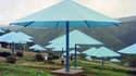 Les parapluies géants de Christo au Japon, en 1991.