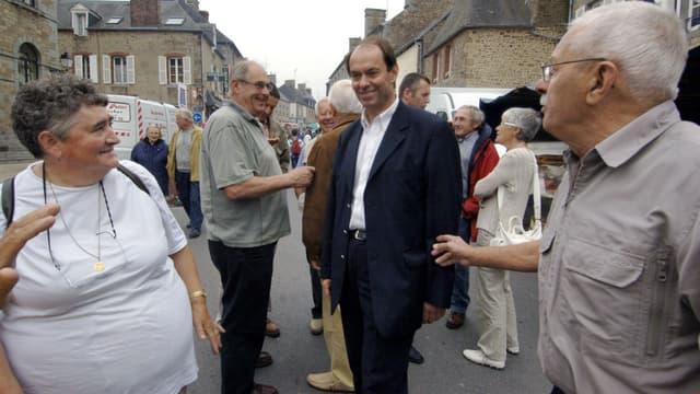 Guénhaël Huet, le 12 juin 2007 à Sourdeval, dans le cadre de la campagne pour les élections législatives.