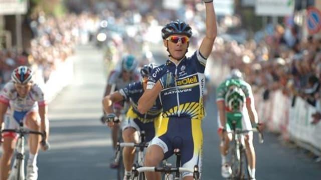 Riccardo Ricco, ici lors de sa victoire en début de saison sur la Coppa Sabatini