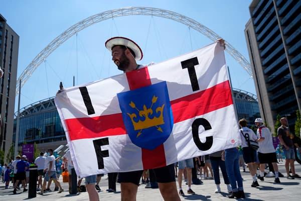 Un supporter de l'Angleterre dimanche avant le match contre la Croatie