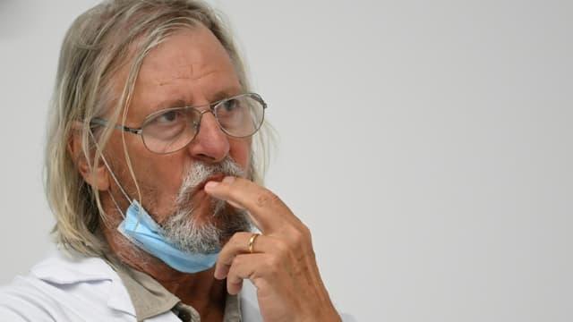 Le professeur Didier Raoult lors d'une conférence de presse le 27 août 2020 à Marseille