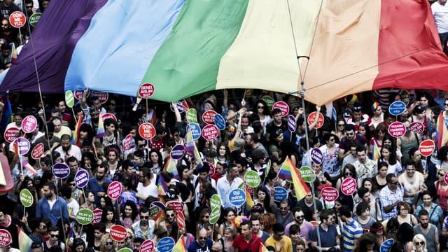 La gay pride de 2014, à Istanbul.
