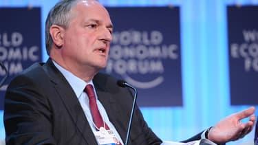 Paul Polman, ici au Forum économique mondial de Davos, met en garde le gouvernement français