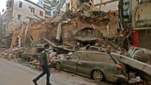 Une vue de Beyrouth dévastée, au lendemain des explosions du 4 août 2020