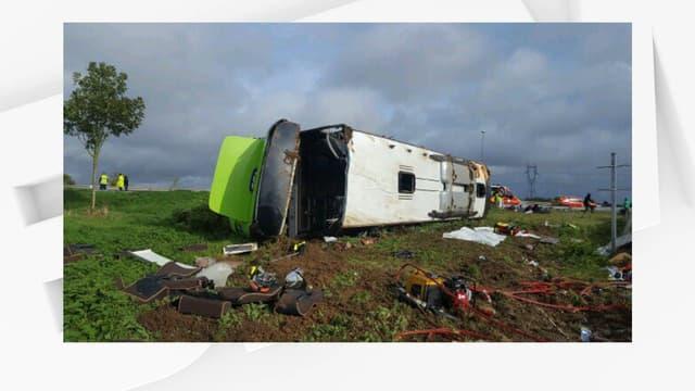 Accident d'un bus de la compagnie Flixbus sur l'A1, le 3 novembre 2019