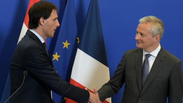 Le ministre de l'Economie Bruno Le Maire a rencontré ce vendredi 1er mars son homologue hollandais Wopke Hoekstra.