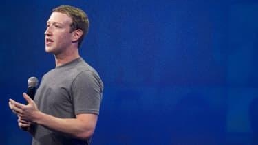Le patron de Facebook, Mark Zuckerberg