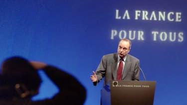 Le candidat RPR à l'élection présidentielle Jacques Chirac, le 16 mars 1995.