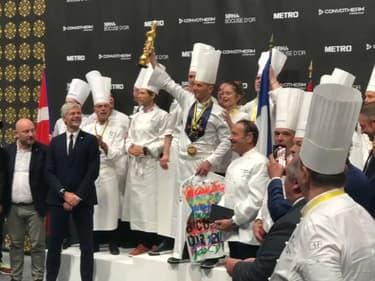Le chef lyonnais Davy Tissot a remporté le Bocuse d'Or 2021 avec la France