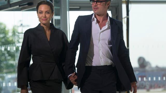 Angelina Jolie et Brad Pitt, le 13 juin dernier à Londres.