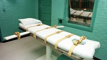 La chambre de la mort du pénitencier de Huntsville (Texas), en 2000