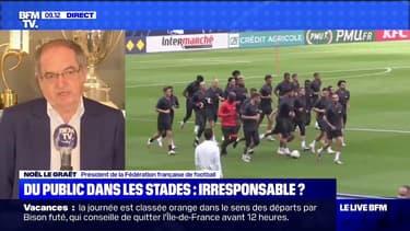 """5000 supporters dans le stade pour la finale de la Coupe de France. """"C'est mieux qu'un huis clos"""" réagit Noël Le Graët"""