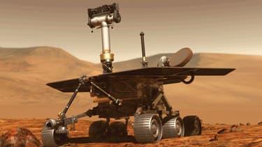 Image modélisée du rover de la Nasa Opportunity, qui parcourait Mars depuis 2004.