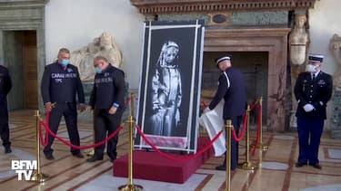 L'Italie restitue à la France une oeuvre de Banksy peinte sur le Bataclan puis volée