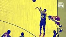 Steph Curry dans son exercice préféré, le tir à trois points
