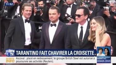 Tarantino, Brad Pitt et DiCaprio font chavirer la Croisette
