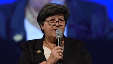 Catherine Barbaroux, la nouvelle présidente d'En Marche! le 9 novembre 2015 à Paris
