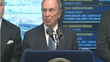 Le maire de New York, Michael Bloomberg, lors de la présentation de ce nouveau système.