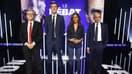 Jean-Luc Mélenchon et Eric Zemmour avant leur débat sur BFMTV, le 23 septembre 2021