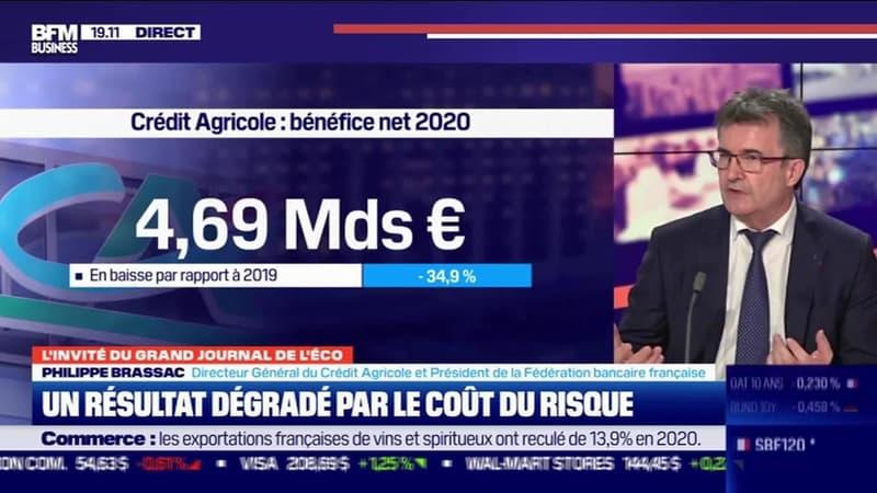 Philippe Brassac (Crédit Agricole) : Un résultat dégradé par le coût du risque - 11/02