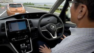 Nissan a testé son monospace semi-autonome Serena à l'été 2016.