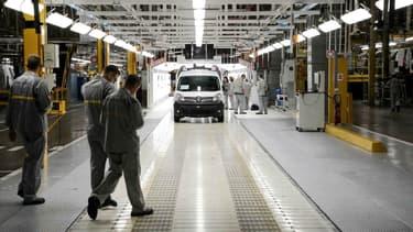 L'usine Renault de Maubeuge (Nord), où est produit le petit utilitaire Kangoo.