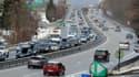 Trafic dense sur l'autoroute N90 entre Albertville et Moûtiers, en février 2015. (Illustration)