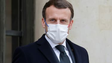 Emmanuel Macron à l'Elysée le 17 mars 2021