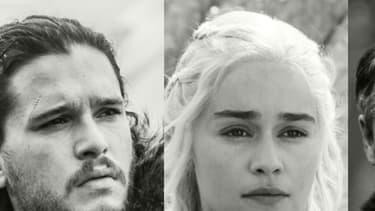 Jon Snow, Daenerys Targaryen, Lord Baelish et Cersei Lannister.