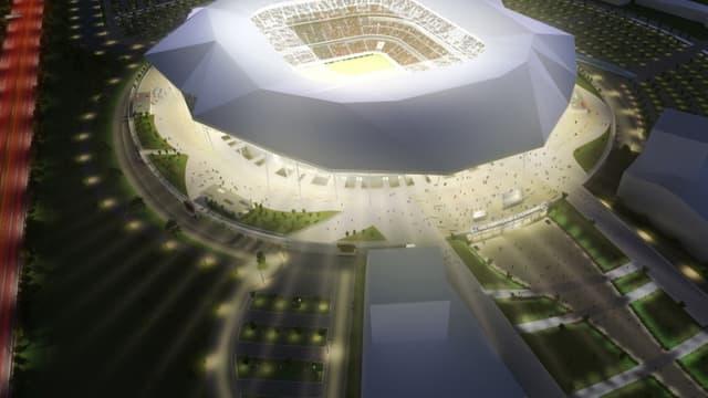 Le stade des Lumières sera inauguré le 9 janvier prochain.
