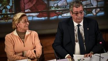 Isabelle et Patrick Balkany lors du conseil municipal de Levallois-Perret le 15 avril 2019