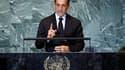 Nicolas Sarkozy a proposé mercredi que l'Onu accorde à la Palestine le statut d'Etat observateur, comme celui du Vatican, en attendant un accord définitif sur le futur Etat palestinien, qu'il juge possible d'ici un an. /Photo prise le 21 septembre 2011/RE