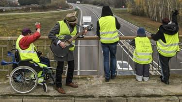 Des gilets jaunes mobilisés à Montceau-les-Mines le 21 novembre 2018