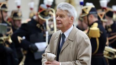 Le sénateur LaREM Alain Richard, le 1er janvier 2018 à l'Élysée.
