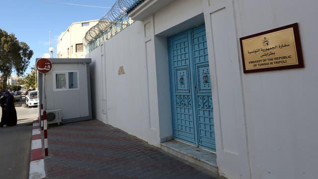 L'ambassade de Tunisie à Tripoli, cible vendredi d'une prise d'otages.