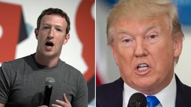 Donald Trump accuse le réseau social Facebook d'être contre lui.