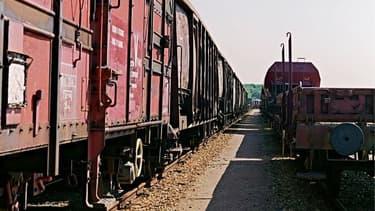 Un train de marchandise - photo d'illustration