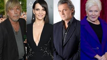 Renaud, Juliette Binoche, Yvan Le Bolloc'h et Line Renaud ont chacun apporté leur soutien publiquement à un des onze candidats de l'élection présidentielle 2017