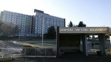 L'hôpital Victor-Jousselin de Dreux (Eure-et-Loir), le 20 janvier 2017