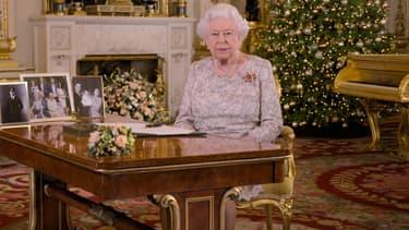 La reine Elizabeth II lors de son allocution de Noël