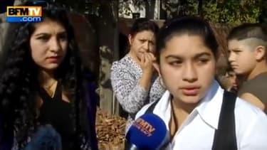 La jeune Leonarda interrogée par BFMTV au sujet de son éventuel retour en France, le 19 octobre 2013
