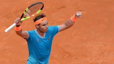 Rafael Nadal à Rome, le 18 mai 2019