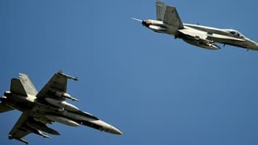 L'attaque a été menée par deux appareils F-18. (Photo d'illustration)