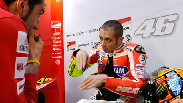 Valentino Rossi est septième sur la grille